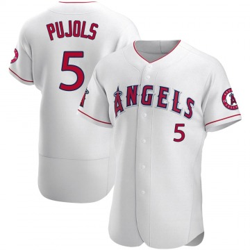 Men's Los Angeles Angels Albert Pujols White Jersey - Authentic